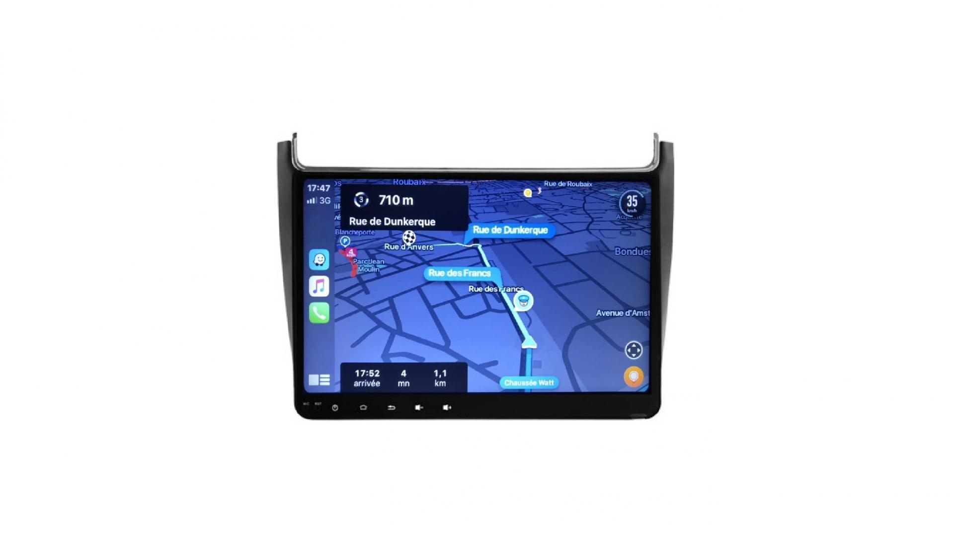 Vw polo autoradio gps bluetooth android auto carplay camera de recul commande au volant4