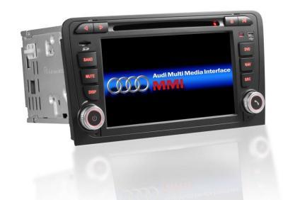 AUTORADIO GPS BLUETOOTH AUDI A3 8P/S3/RS3/SPORTBACK + CAMERA DE RECUL